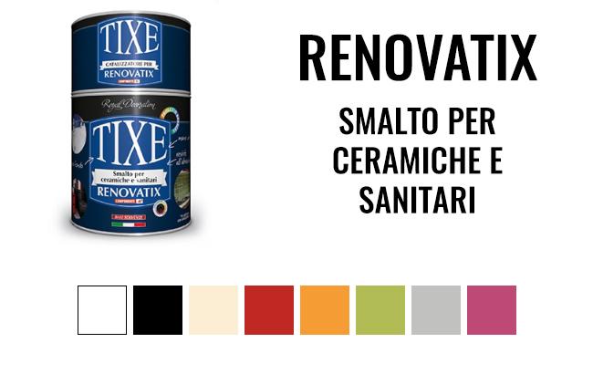 Vernice per piastrelle pavimenti ceramiche e sanitari tixe srl - Smalti bicomponenti per pitturare piastrelle o ceramiche ...